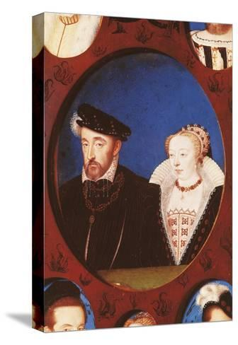 Portrait of Henry II of France--Stretched Canvas Print