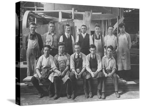 Pattern Maker Apprentices and Instructors, 1920--Stretched Canvas Print