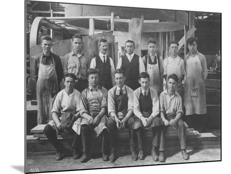 Pattern Maker Apprentices and Instructors, 1920--Mounted Photographic Print