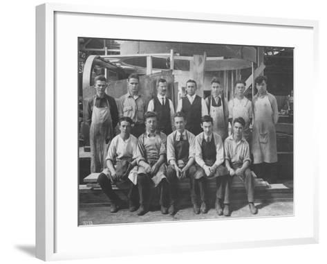 Pattern Maker Apprentices and Instructors, 1920--Framed Art Print