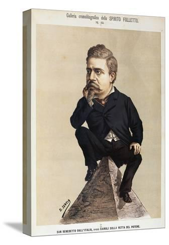 Caricature of Benedetto Cairoli--Stretched Canvas Print