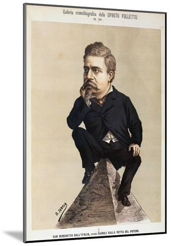 Caricature of Benedetto Cairoli--Mounted Giclee Print