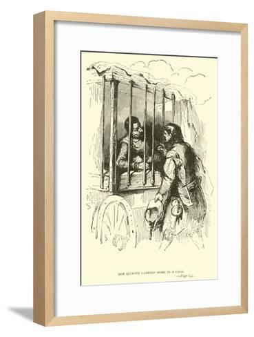 Don Quixote Carried Home in a Cage-Sir John Gilbert-Framed Art Print
