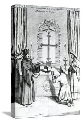 The Shrine of Saint Thomas at Meliapore, 1667-Athanasius Kircher-Stretched Canvas Print
