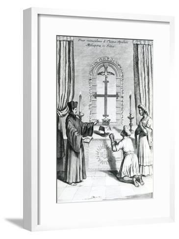 The Shrine of Saint Thomas at Meliapore, 1667-Athanasius Kircher-Framed Art Print