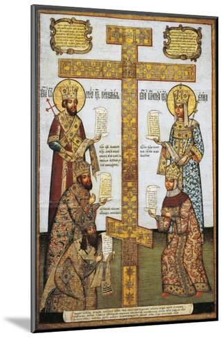Veneration of Cross With--Mounted Giclee Print