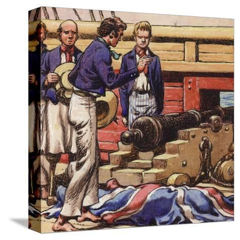 Sailors at a Ship's Cannon-Pat Nicolle-Stretched Canvas Print