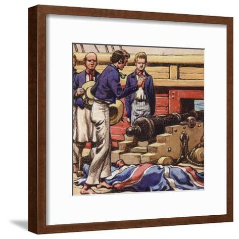 Sailors at a Ship's Cannon-Pat Nicolle-Framed Art Print