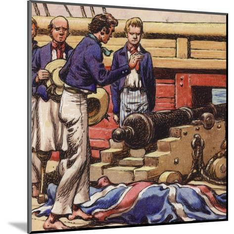 Sailors at a Ship's Cannon-Pat Nicolle-Mounted Giclee Print
