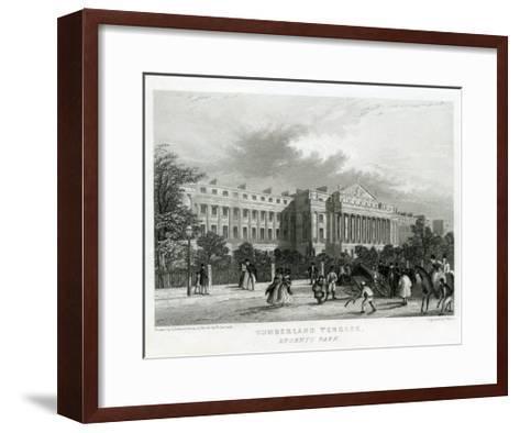 Cumberland Terrace, Regent's Park, London--Framed Art Print