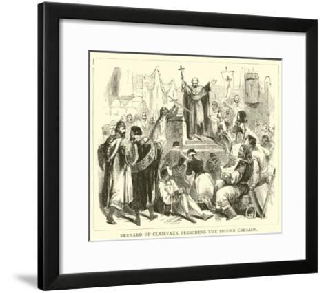 Bernard of Clairvaux Preaching the Second Crusade--Framed Art Print