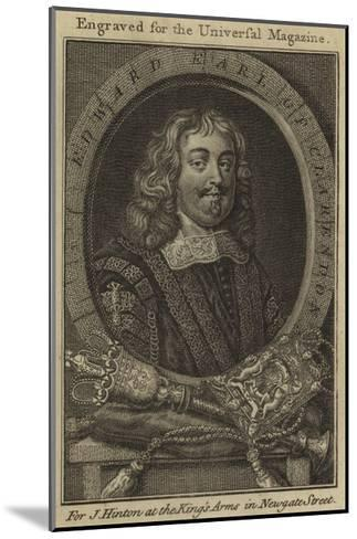 Edward, Earl of Clarendon--Mounted Giclee Print