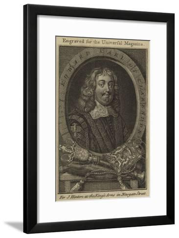 Edward, Earl of Clarendon--Framed Art Print