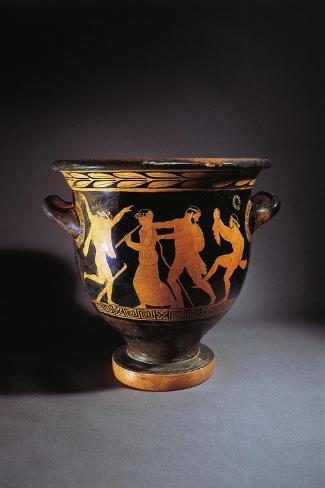Greece, Athens, Red-Figure Bell Krater--Stretched Canvas Print