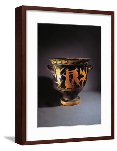 Greece, Athens, Red-Figure Bell Krater--Framed Art Print