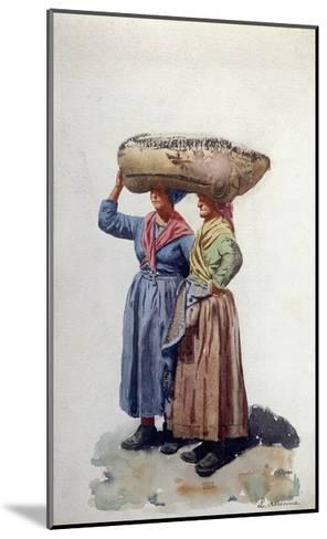 Two Women Dock Workers at Genoa Port, C.1890-L. Allavena-Mounted Giclee Print