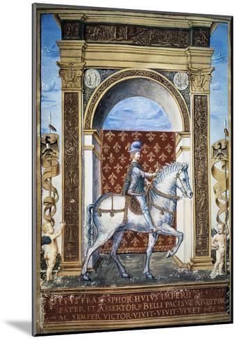 Portrait of Francesco Sforza on Horseback--Mounted Giclee Print