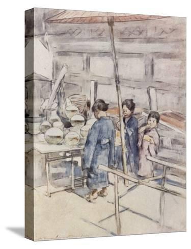 Goldfish-Mortimer Ludington Menpes-Stretched Canvas Print