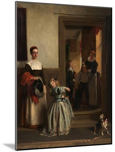 Going to a Party, 1866-John Callcott Horsley-Mounted Giclee Print
