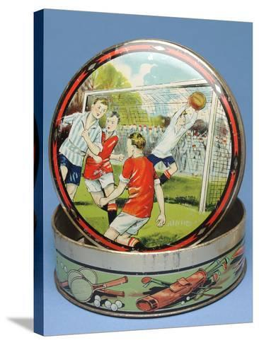 Circular Biscuit Tin, 1930s--Stretched Canvas Print