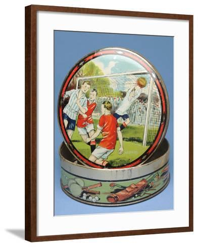 Circular Biscuit Tin, 1930s--Framed Art Print