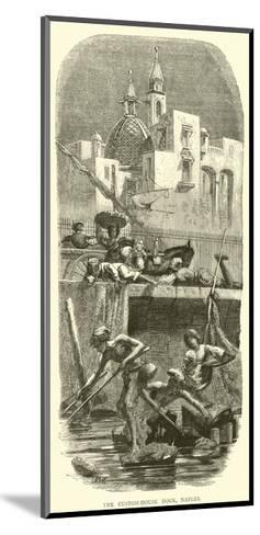 The Custom-House Dock, Naples--Mounted Giclee Print