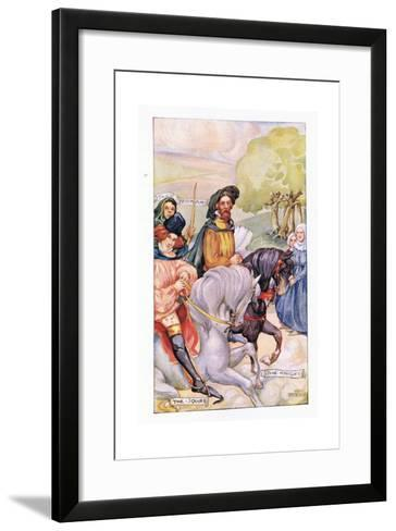 In Attendance on the Knight Was His Son-Anne Anderson-Framed Art Print