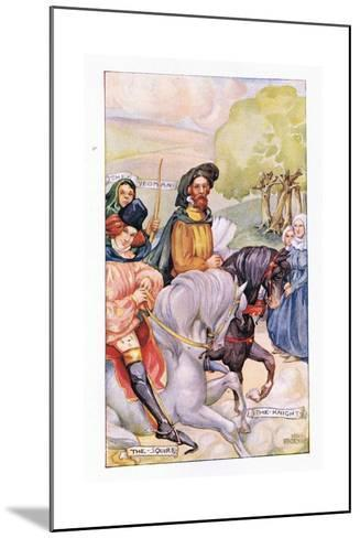 In Attendance on the Knight Was His Son-Anne Anderson-Mounted Giclee Print