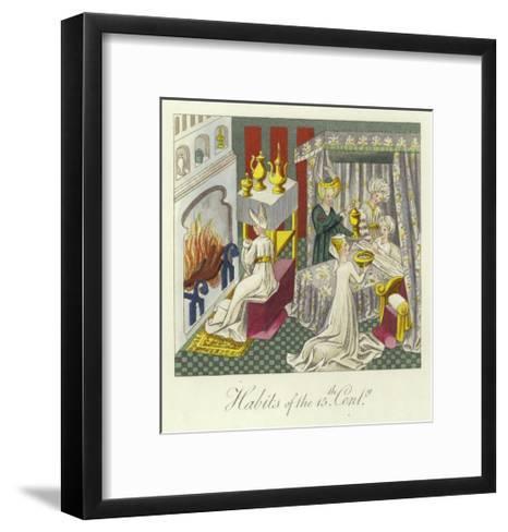 Habits of the 15th Century--Framed Art Print