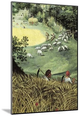 Landscape in Summer-Lucas van Valkenborch-Mounted Giclee Print