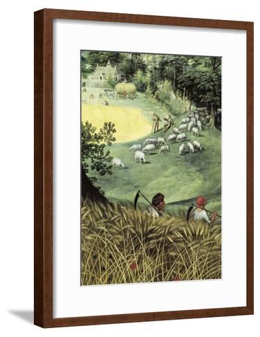 Landscape in Summer-Lucas van Valkenborch-Framed Art Print