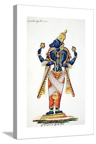 Varaha, Boar Avatar of Vishnu--Stretched Canvas Print