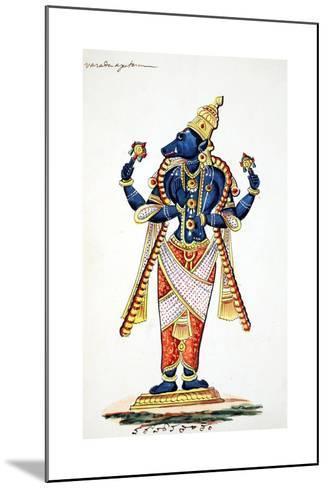 Varaha, Boar Avatar of Vishnu--Mounted Giclee Print