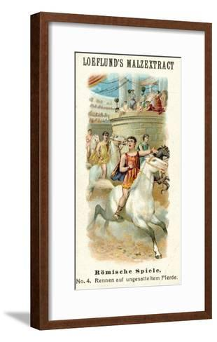 Roman Games - Bareback Horse Race--Framed Art Print