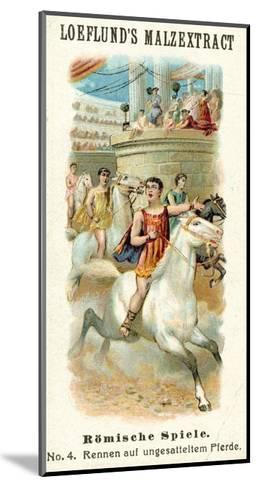 Roman Games - Bareback Horse Race--Mounted Giclee Print
