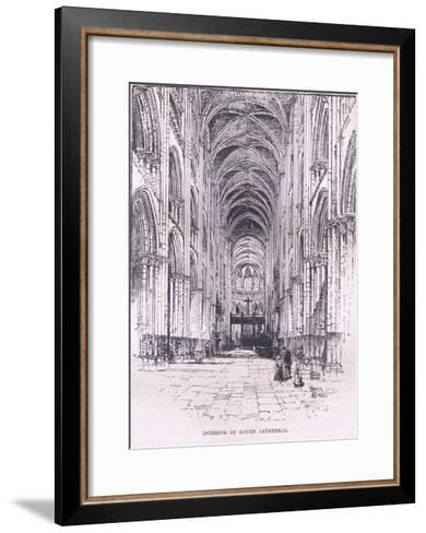 Interior of Rouen Cathedral--Framed Art Print