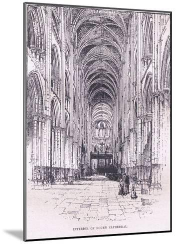 Interior of Rouen Cathedral--Mounted Giclee Print