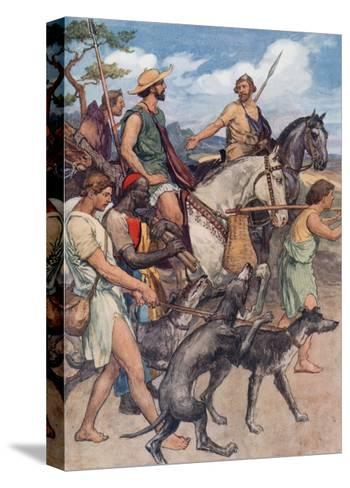 Pelopidas Setting Out for Thebes-William Rainey-Stretched Canvas Print