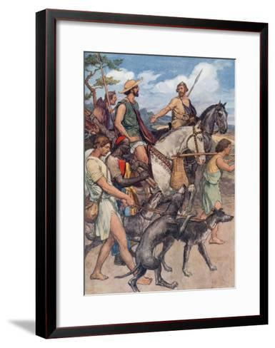 Pelopidas Setting Out for Thebes-William Rainey-Framed Art Print