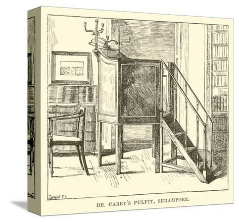 Dr Carey's Pulpit, Serampore--Stretched Canvas Print