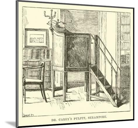 Dr Carey's Pulpit, Serampore--Mounted Giclee Print