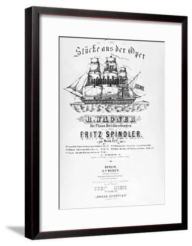 Poster for Flying Dutchman-Richard Wagner-Framed Art Print