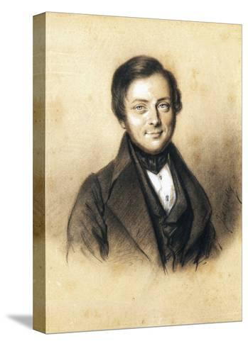 Portrait of Camillo Benso, Count of Cavour--Stretched Canvas Print