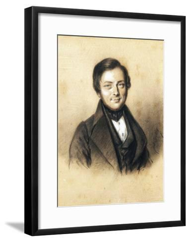 Portrait of Camillo Benso, Count of Cavour--Framed Art Print