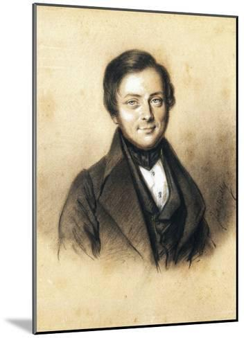 Portrait of Camillo Benso, Count of Cavour--Mounted Giclee Print