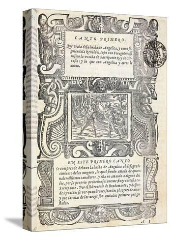 Mad Orlando, Epic Poem by Ludovico Ariosto--Stretched Canvas Print