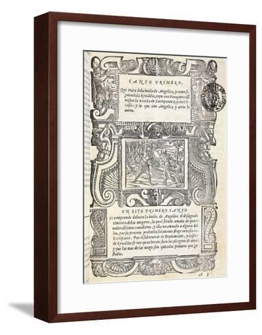 Mad Orlando, Epic Poem by Ludovico Ariosto--Framed Art Print