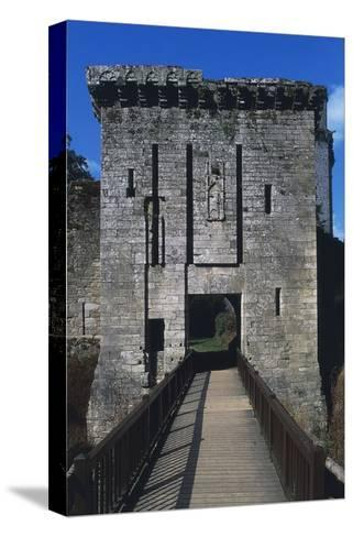 Bridge and Access Way of Largoet Castle--Stretched Canvas Print