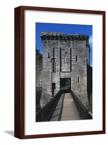 Bridge and Access Way of Largoet Castle--Framed Art Print