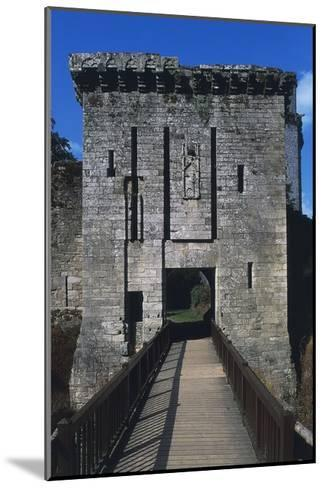 Bridge and Access Way of Largoet Castle--Mounted Giclee Print